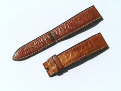 Blancpain 19mm 19/15 75/110 Croco Brown Watch Leather Band Strap I437