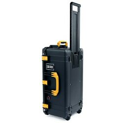 Black And Yellow Pelican 1606 Air Case No Foam / Empty. With Wheels.