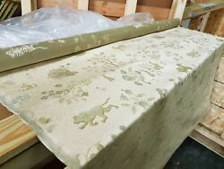 Travers Animal Print Beige Embroidery Silk Cotton Upholstery Fabric 2yds+