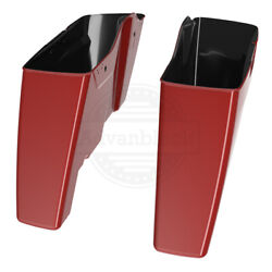 Red Hot Sunglo No Cutout Extend Saddlebag Bottoms For 14-20 Harley Touring