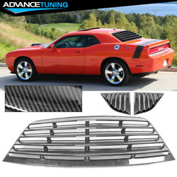 Fits 08-21 Dodge Challenger Ikon Xe Style Rear Side Window Louver Vent Scoop Cfl