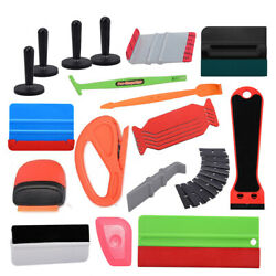 Pro Squeegee Car Window Film Wrap Applicator Vinyl Safety Cutter Cleaning Tools