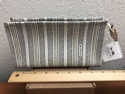 COACH Cosmetic Makeup Bag 49255 White Black New $29.99