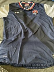 2012 Us Usa National Team Away Nike Soccer Jersey Youth Large Kid Used Vtg Rare