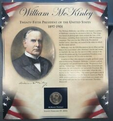 Pcs United States Presidents Coin Collection - William Mckinley -coin And Stamps