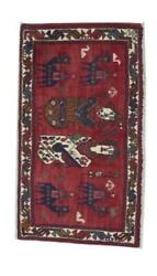 Theme Handmade Red Multicolor Wool Rug 1and0397 X 2and03910