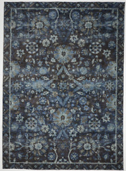 Transitional Machine Made Blue Rug 8and0396 X 11and0397