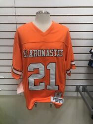 New 1988 Authentic Barry Sanders 3xjersey Oklahoma State Detroit Lions Throwback