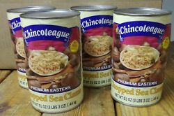 Chincoteague Chopped Sea Clams 4/51 Oz Cans Scratch And Dent Sale Free Shippping