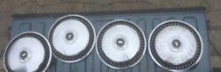 Set Of Silver Vintage 1960s Ford Fairlane Hubcaps