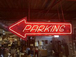 Original Parking Drive-In Movie Neon Sign Vintage Neon Sign Man Cave