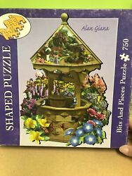 Bits And Pieces Shaped 750pc Used Puzzle Called Wishing Well By Alan Giana
