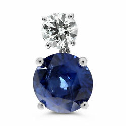 EXTRA LARGE 12.34CT DIAMOND & AAA SAPPHIRE PLATINUM 3D CLASSIC HANGING EARRINGS