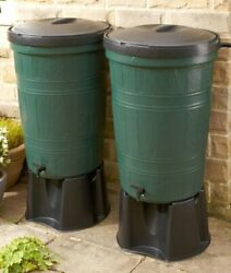 200 Litre Water Butt Twin Kit 2 X 200l Kits - With Free Link Kit