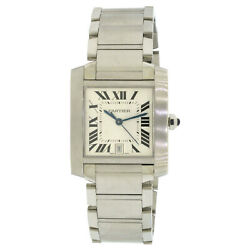 2302 Stainless Steel Tank Francaise Rectangle Men's Automatic Watch