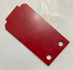 New Waratah Forestry Equipment H624 Cover Plate F350375 Red Steel 2 Hole