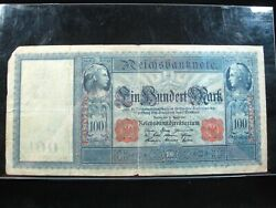 Germany 100 Marks 1910 German Large Bill 76 Currency Bank Money Banknote