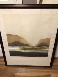 Renata Zerner Vermont Hills Signed And 'ed Lithograph 55/250
