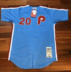 Authentic Mitchell And Ness Schmidt Phillies Robin Egg Blue 1980 Jersey- 50 300