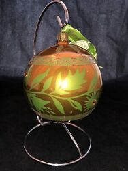 Waterford Holiday Heirlooms Georgian Bouquet Ball Ornament Copper Jeweled Nib