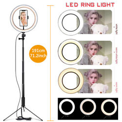 10 Led Ring Light Lamp Tripod Stand Kit For Youtube Video Live Stream Dimmable