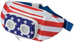American Flag Fannypack with Speakers Bluetooth Fanny Pack Summer Accessory FUN $33.71