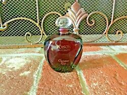 Vintage 1980and039s Empty Bottle Christian Dior Poison 3.4 Oz 100 Ml With Stopper