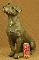 Vintage Cold Painted Vienna Bronze Jack Russell Terrier Dogs Life Size Figure