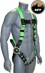 Afp Universal Full-body Safety Harness With 3 D-ring And Tongue Buckle Legs New