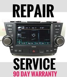 Repair Service For Your Toyota Navigation Radio With Bad Cd / Dvd Player