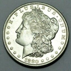 1880-s Ms Unc Proof-like Morgan Dollar Silver Coin Scarce 1.00 Better Date,rare