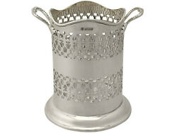 English Sterling Silver Bottle Coaster Cooper Brothers And Sons 556g Height 17.2cm