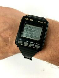 Orologio Seiko Uc 3000 Data Bank Extremely Rare Vintage Japan 80and039s Computer Nos