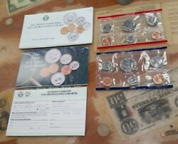 1989 Us Mint Set With Original Envelope P And D Uncirculated Coin Set