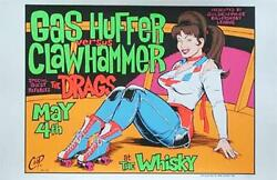 Coop Gas Huffer Whiskey Silkscreen Rock Concert Poster Signed Numbered Limited