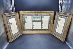 Nice Vintage Latin Mass Card Set In Wood Frames Altar Cannons Cu390 Chalice Co