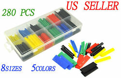 280pc Heat Shrink Wire Wrap Assortment Tubing Electrical Connection Cable Sleeve