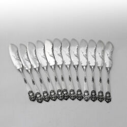 Towle Georgian 12 Butter Spreaders Set Sterling Silver Pat 1898 Mono R