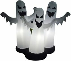 5ft White Inflatable Ghost Halloween Decorations With Led Light For Halloween