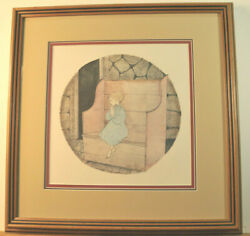 P Buckley Moss Please God Framed Limited Edition Print Signed Numbered 1982