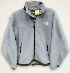 The North Face Womens Light Blue Warm Long Sleeve Zip Up Mid-Weight Jacket SP