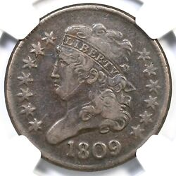 1809 C-4 Ngc Xf 40 Circle In 0 Classic Head Half Cent Coin 1/2c