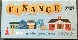 Vintage Finance Board Game 1962 New -houses Still In Plastic -pieces Unpunched