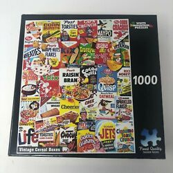 Vintage Cereal Boxes White Mountain Jigsaw Puzzle 1000 Pieces Usa Complete