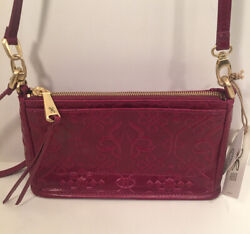 Hobo Bags Leather Cadence Embossed Ruby Crossbody Purse Handbag New with Tags $85.49