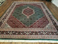 8and039 X 10and039 Vintage Hand Made India Wool Rug Hand Knotted Carpet Herati Pattern
