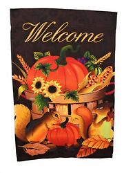 Autumn Harvest Fall Garden Flag 12quot; x 18quot; Double Sided