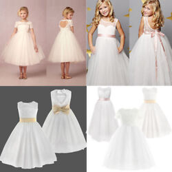 Flower Girl Dress Wedding Bridesmaid Dresses for Formal Pageant Party Birthday