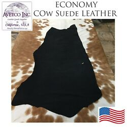 AVETCO INC COW SPLIT ECONOMY SUEDE LEATHER FOR SMALL PROJECTS 3 oz 5 8 SF. Black $14.00