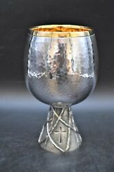 + Nice Antique Chalice + All Hand Embossed + Cup Sterling + Lituart Inc Cu698
